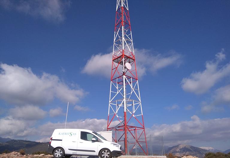 Εγκατάσταση δικτύου ptp σε κεραία μετάδοσης .